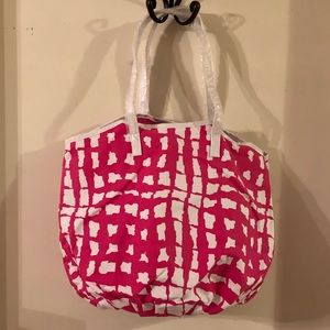 NWT cute pink/white bag from SAKS